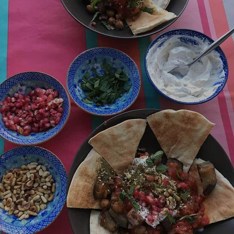 fatteh-aubergines-zaatar-sumac-jordanie