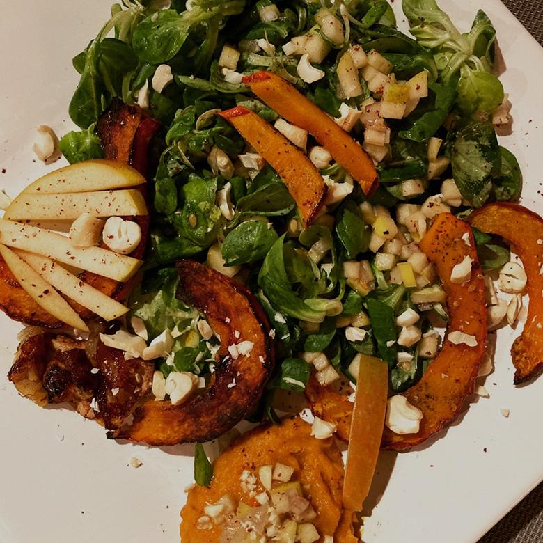 assiette-automnale-vegetarienne-potimarron-reine-reinettes